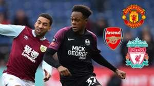 Ricky-Jade Jones, Peterborough 2019-20, Arsenal, Man Utd, Liverpool badges