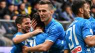 Napoli celebrating Frosinone Serie A