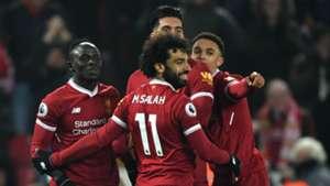 Liverpool celebration Salah Mane Alexander Arnold