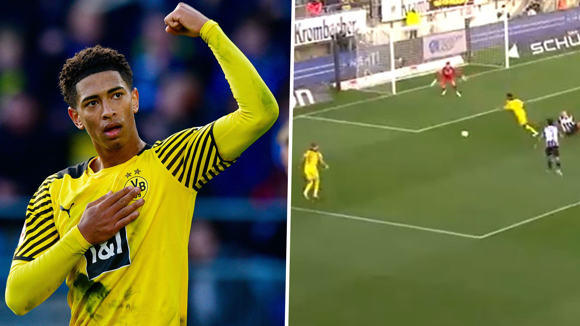 Video: Watch Bellingham score Messi-esque wonder goal for Dortmund