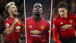 Luke Shaw, Paul Pogba, Victor Lindelof, Man Utd