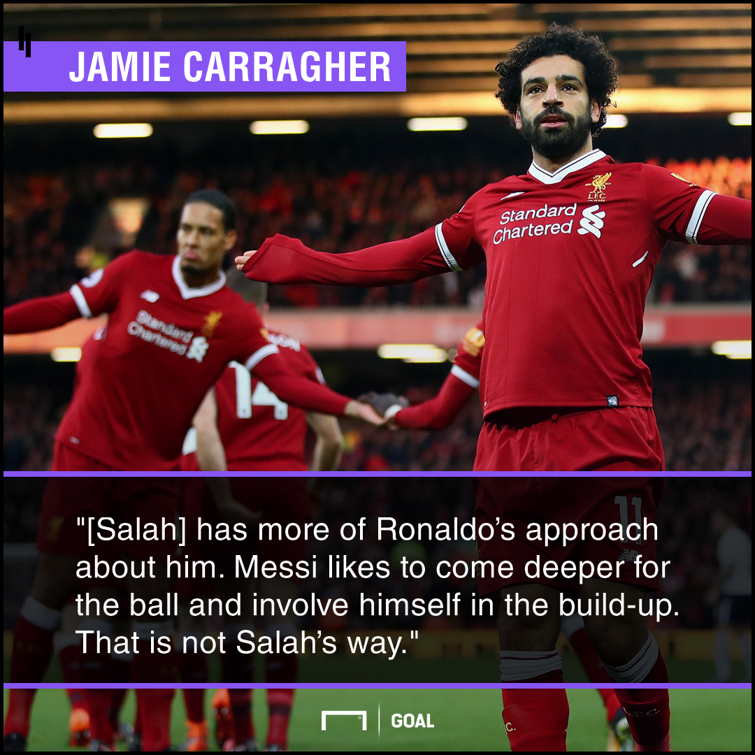 Mohamed Salah more Ronaldo than Messi Jamie Carragher