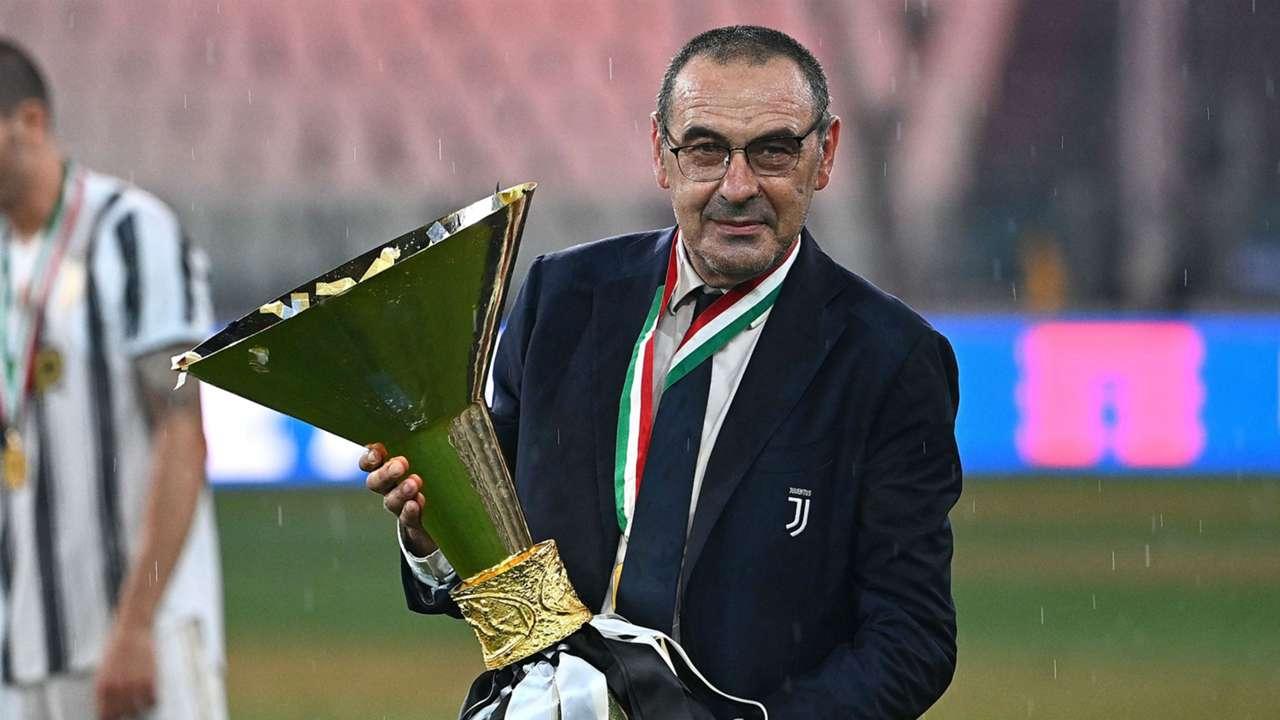 Sarri celebrating Scudetto Juventus Serie A