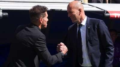 Diego Simeone Zinedine Zidane Real Madrid Atletico LaLiga 08042017