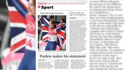 أغلفة الصحف الإنجليزية