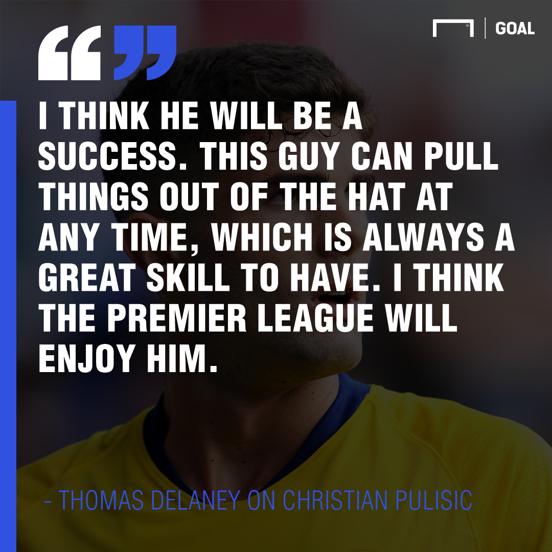 Thomas Delaney Christian Pulisic 2019