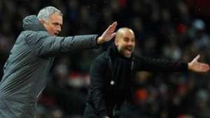 Jose Mourinho Pep Guardiola Manchester United City
