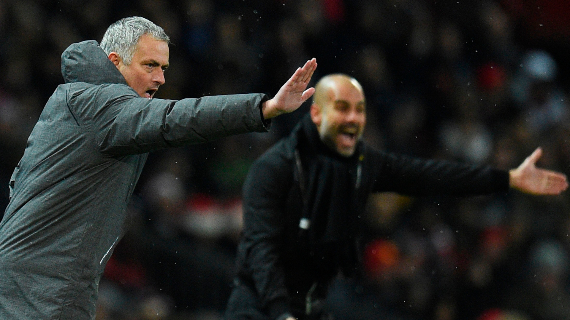 Jose Mourinho Pep Guardiola Manchester United City