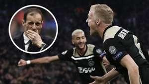 Massimiliano Allegri Juventus Donny van de Beek Ajax