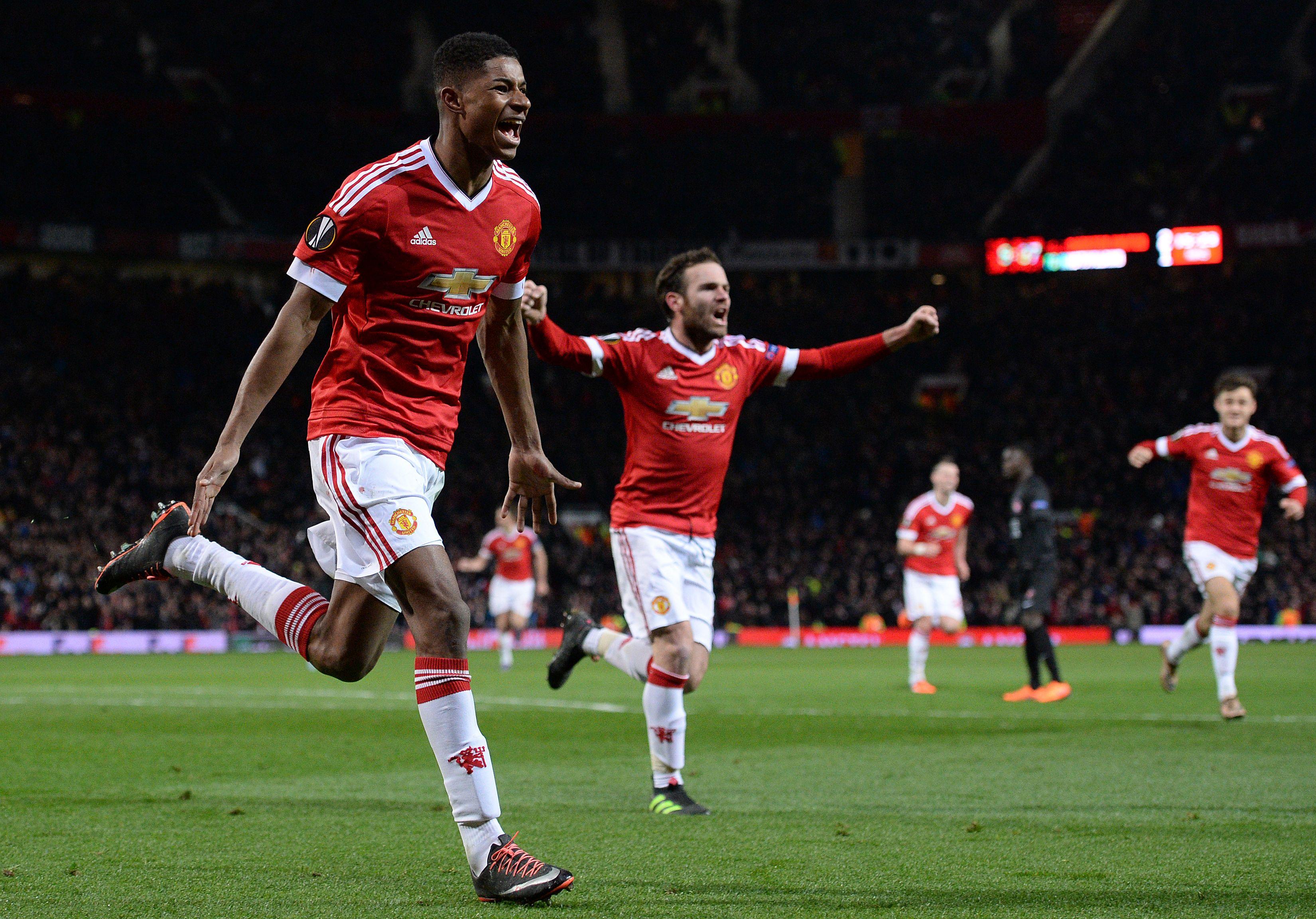 Marcus Rashford Manchester United FC Midtjylland Europa League