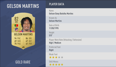 Gelson Martins | FIFA 19