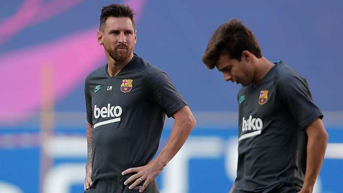 Lionel Messi Barcelona training 2020