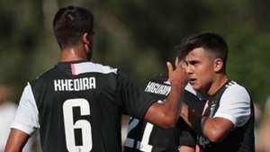 Paulo Dybala Sami Khedira Juventus A Juventus B pre-season friendly match