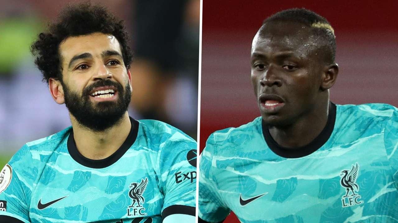 Sadio Mane & Mohamed Salah of Liverpool