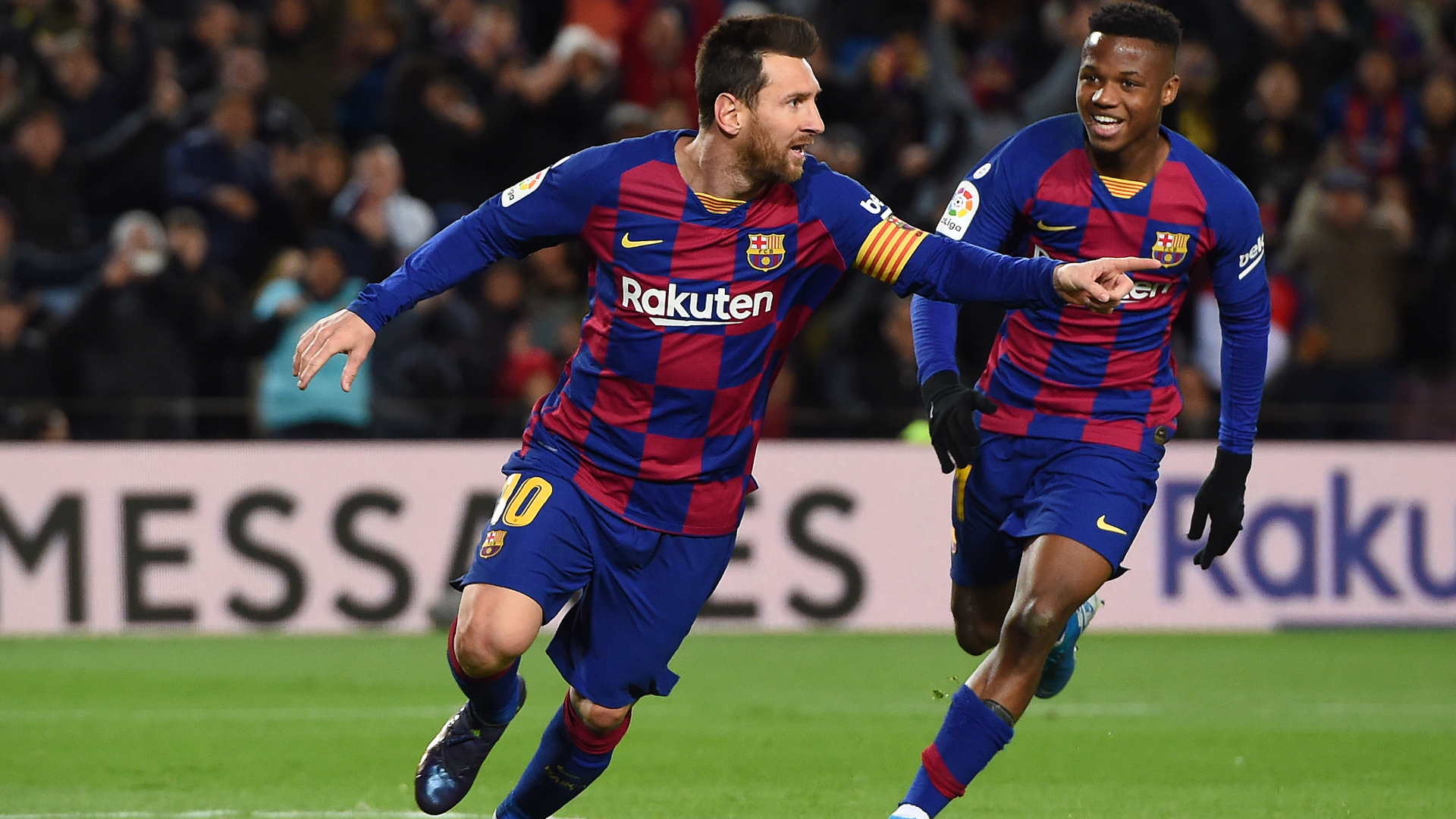 Late Messi strike gives Setien debut Barca win