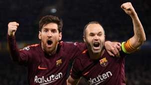 Lionel Messi, Andres Iniesta, Barcelona