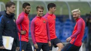 Luis Suarez Denis Suarez Lionel Messi Barcelona 2016