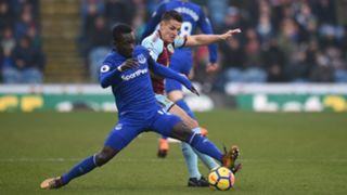 Idrissa Gueye Ashley Westwood Burnley Everton Premier League