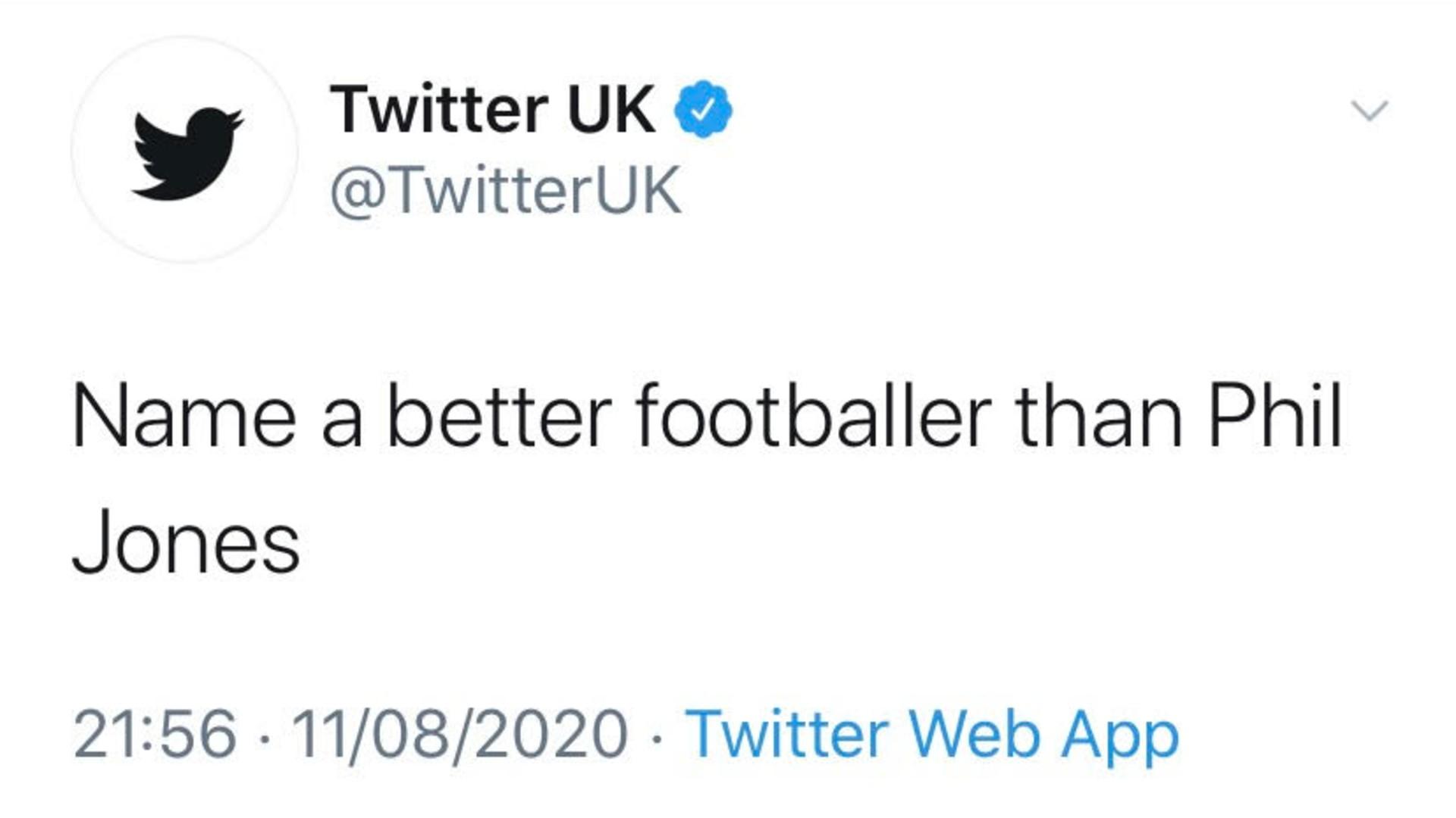 Twitter trolls Phil Jones