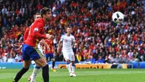 Gerard Pique Spain Czech Republic Euro 2016