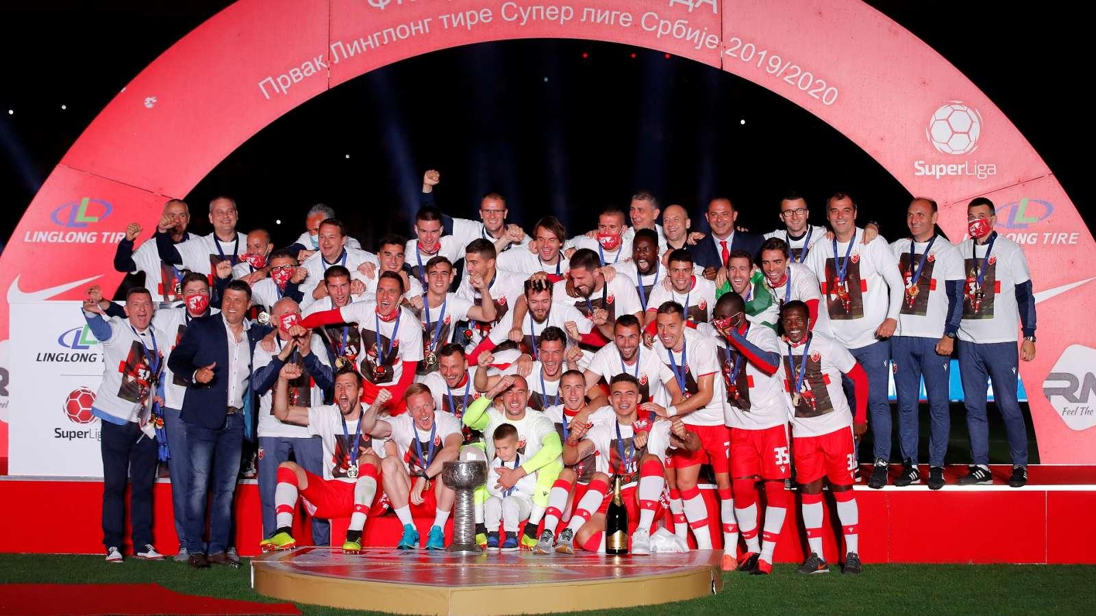 Red Star Belgrade celebrate 2019-20 title