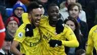 Pierre-Emerick Aubameyang Nicolas Pepe Arsenal 2019-20