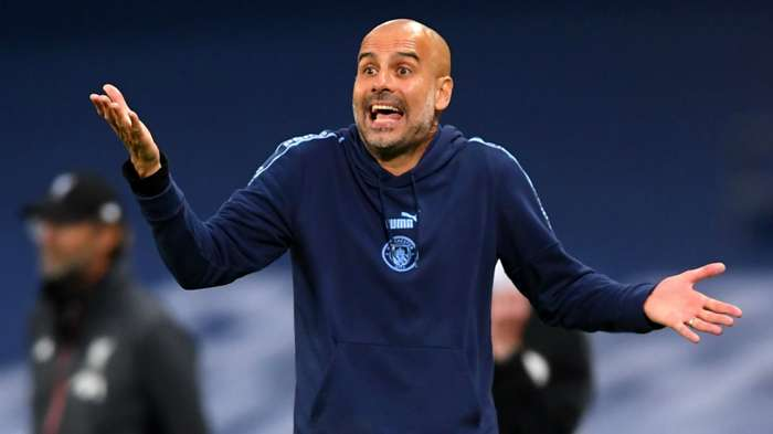 Pep Guardiola Manchester City vs Liverpool Premier League 2019-20