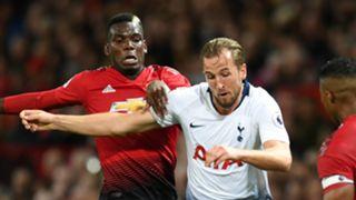 Paul Pogba Harry Kane Manchester United Tottenham 2018-19