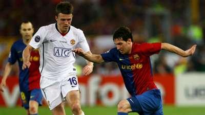Michael Carrick Manchester United Barcelona 2009