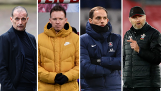 Four way split Nagelsmann, Allegri, Hasenhuttl and Tuchel