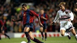Rivaldo, David Beckham, Barcelona vs Man Utd