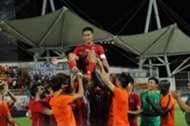 Chan Wai Ho, Hong Kong Team Captain enjoy his last international game.