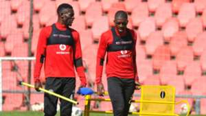 Augustine Mulenga & Abel Mabaso, Orlando Pirates, September 2018