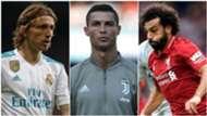 Modric Cristiano Ronaldo Salah