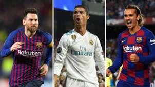 Messi/Ronaldo/Griezmann split