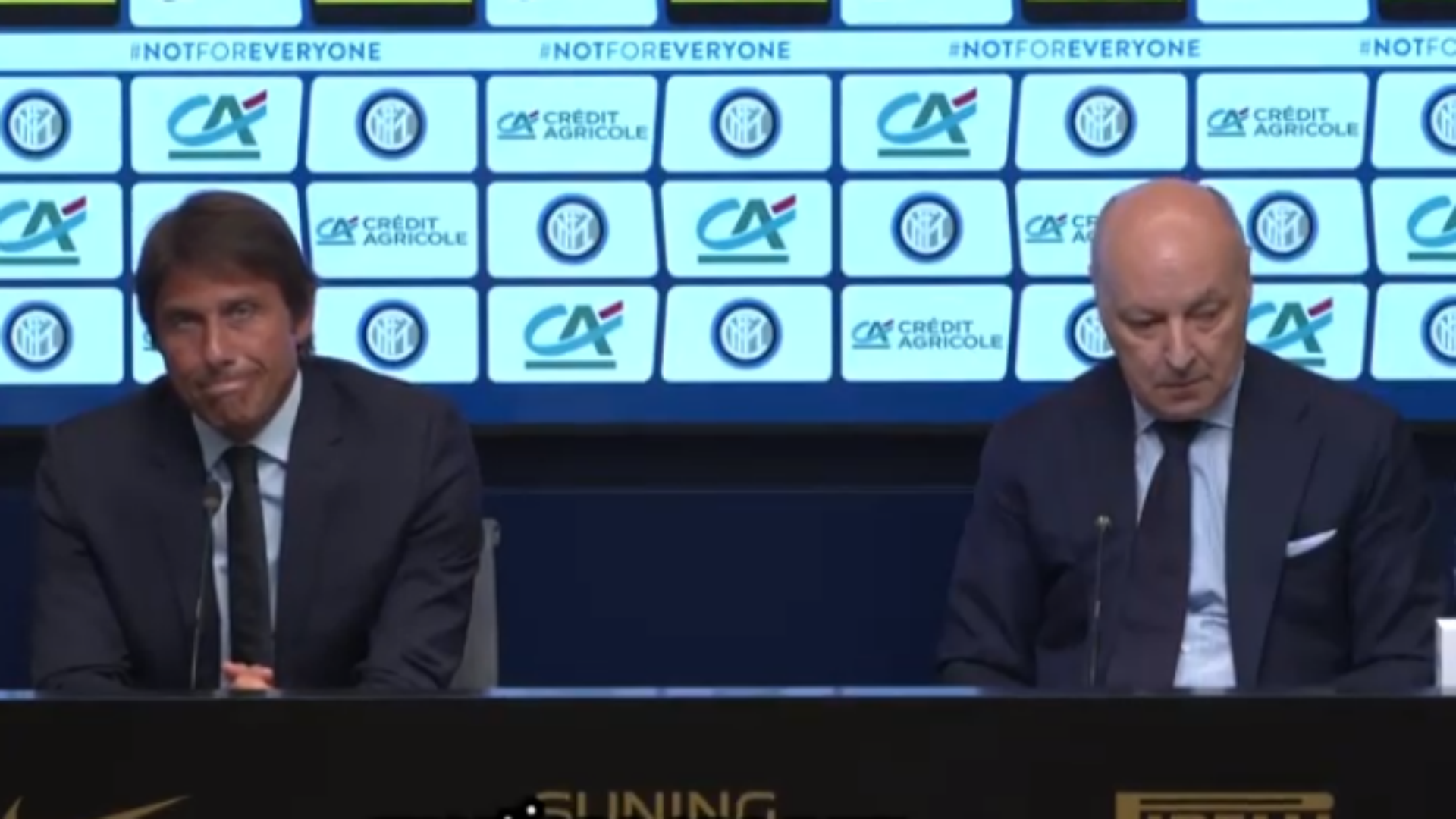 Inter, Conte e Marotta in conferenza: