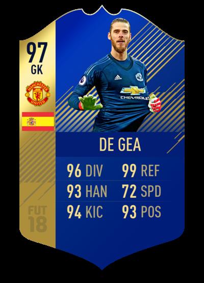 FIFA 18 Team of the Season De Gea