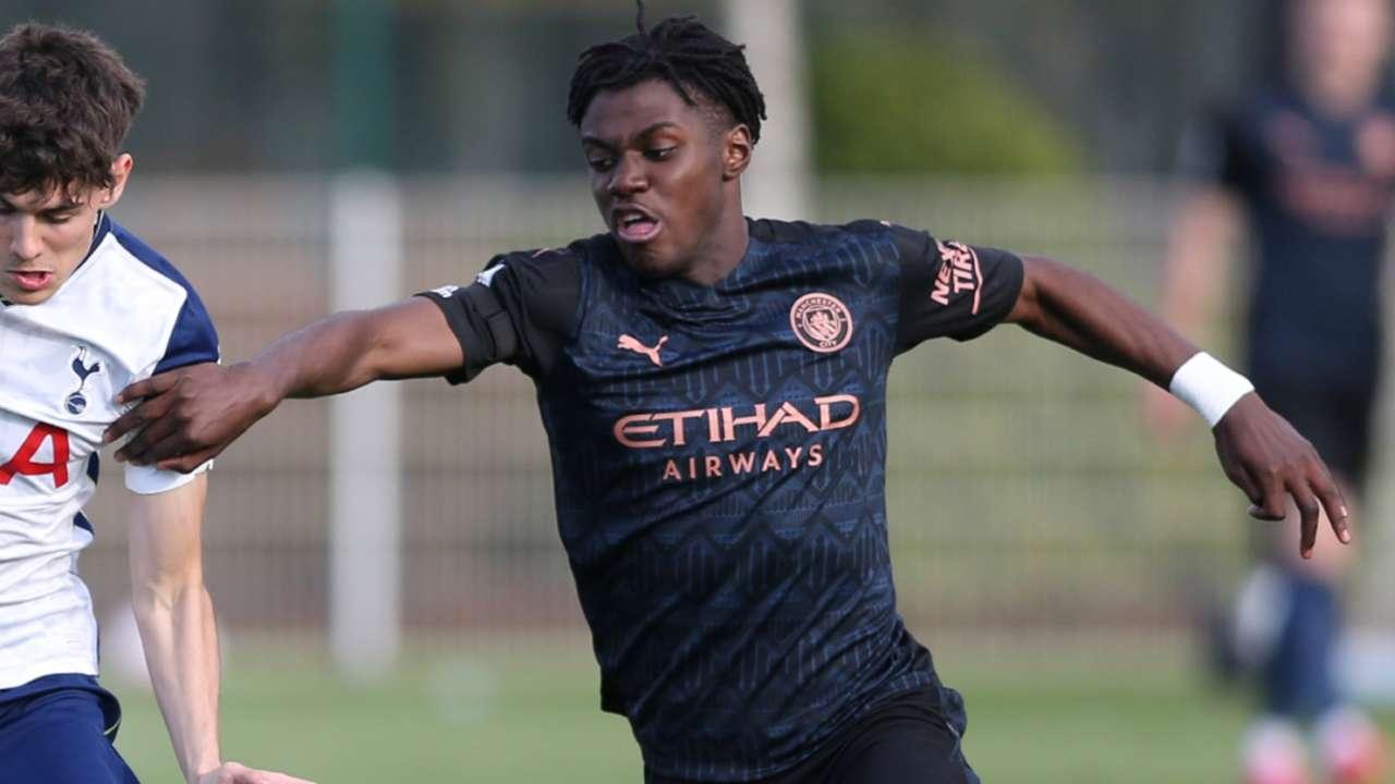 Romeo Lavia Manchester City 2020-21