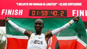 Eliud Kipchoge breaks record for Kenya.