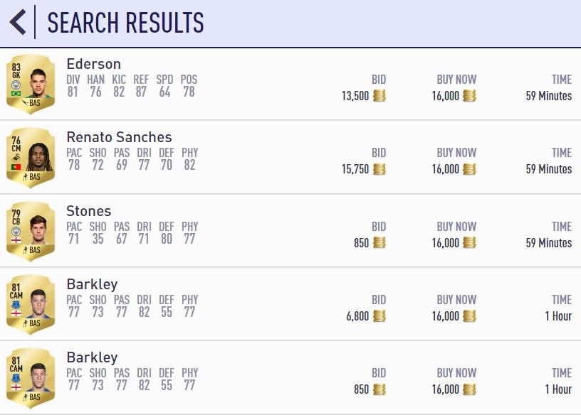 FIFA Ultimate Team 59 Mins