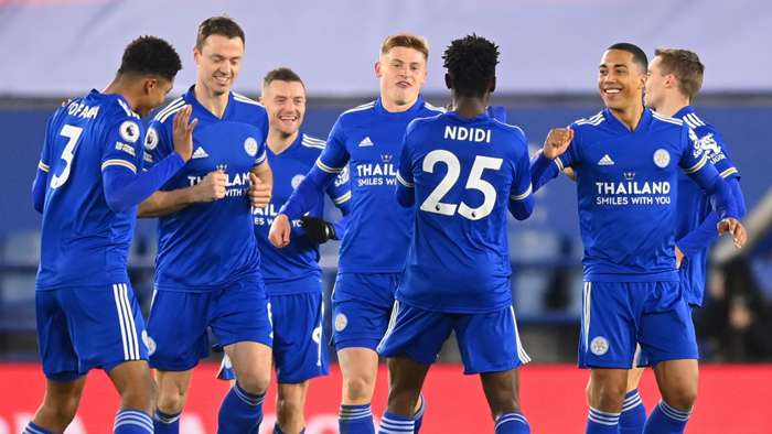 Leicester celebrate Wilfred Ndidi goal vs Chelsea, Premier League 2020-21