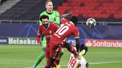 Salah Mane Gulacsi Liverpool Leipzig 2021