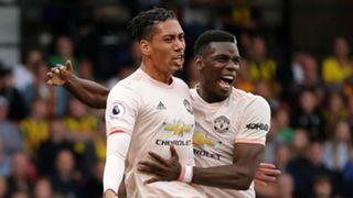 Chris Smalling Paul Pogba Manchester United Premier League 2018