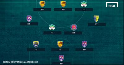 Đội hình tiêu biểu vòng 23 V.League 2017