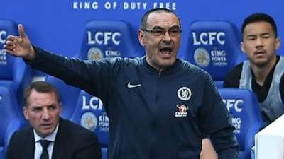 Maurizio Sarri Chelsea Leicester