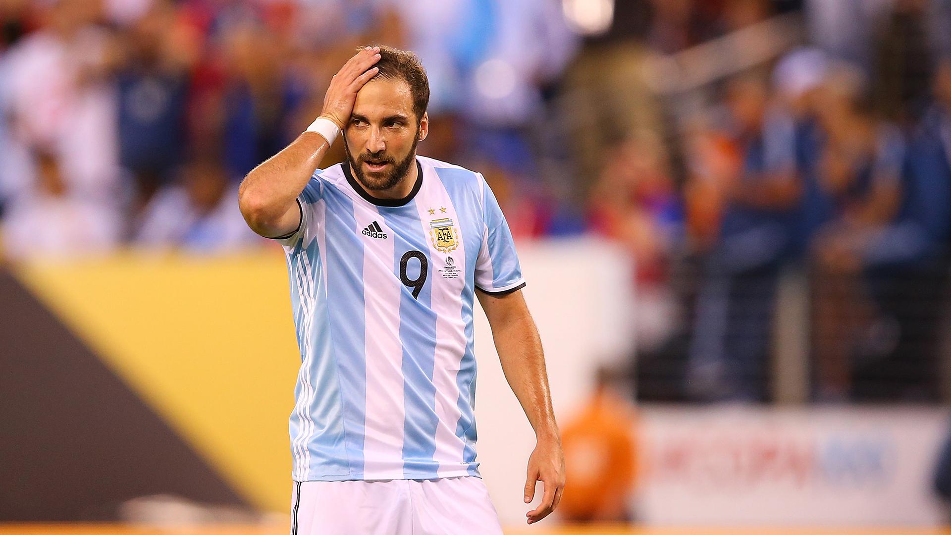 Gonzalo Higuain Argentina Copa America final