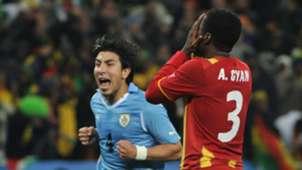 Asamoah Gyan Ghana Uruguay 2010 World Cup