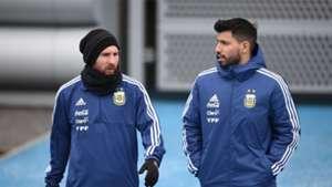 Lionel Messi Sergio Aguero Argentina
