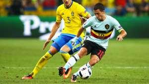 Eden Hazard against Sweden