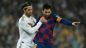 Lionel Messi Sergio Ramos Real Madrid vs Barcelona 2019-20